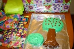 Kedrick's third birthday he very specifically requested a strawberry tree and a bush!