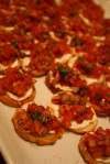 beef steak tomato bruschetta
