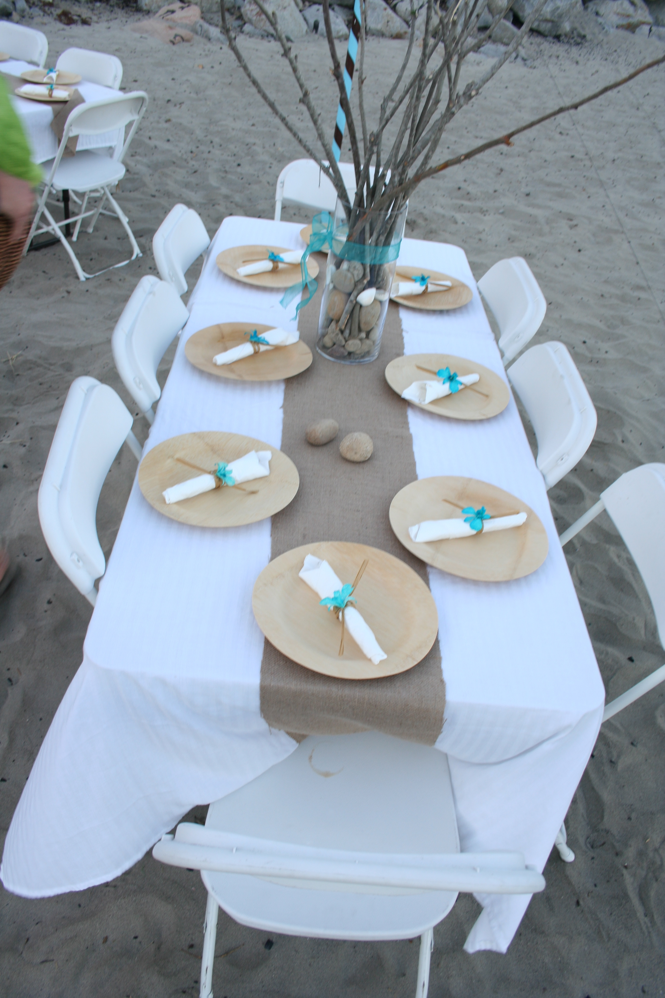 Burlap ... : disposable plates wedding - Pezcame.Com